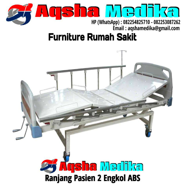 Ranjang Pasien 2 Engkol ABS | Aqsha Medika Furniture RS