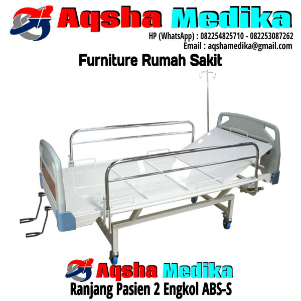 Ranjang Pasien 2 Engkol ABS-S | Aqsha Medika Furniture RS