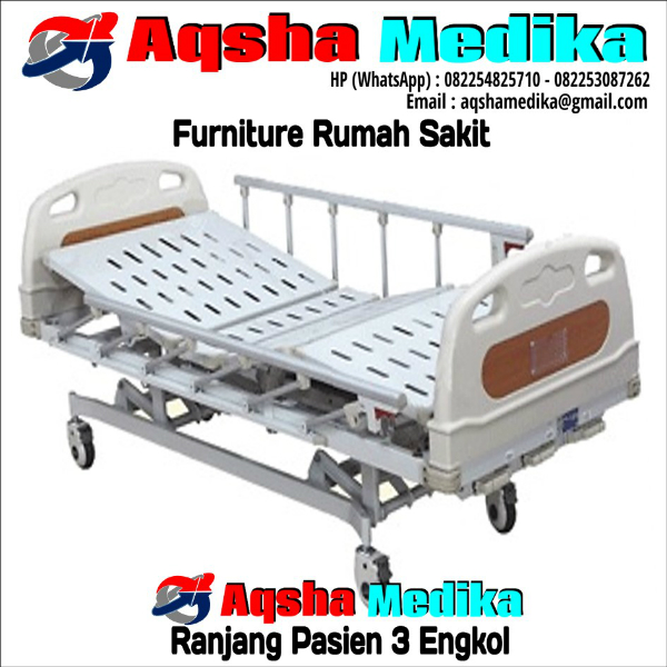 Ranjang Pasien 3 Engkol ABS | Aqsha Medika Furniture RS