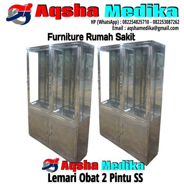 Lemari Obat 2 Pintu SS | Aqsha Medika Groups