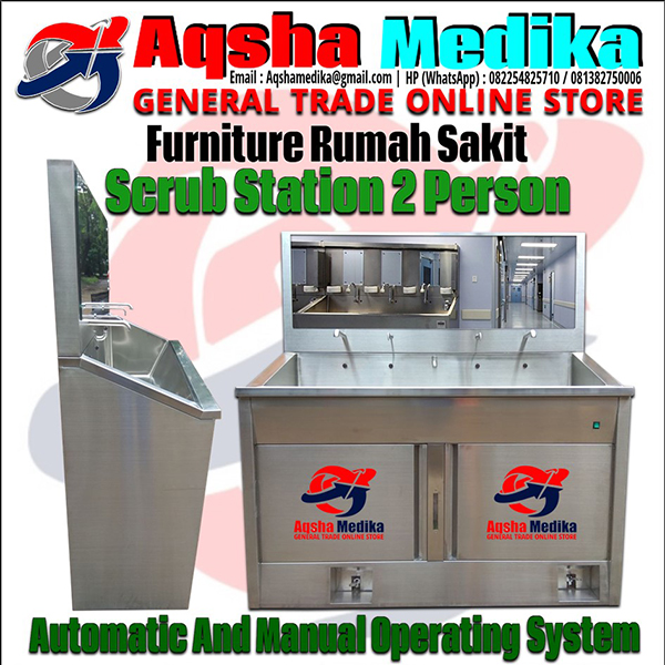 Scrub Station 2 Person Automatic Manual Kamar Bedah RS