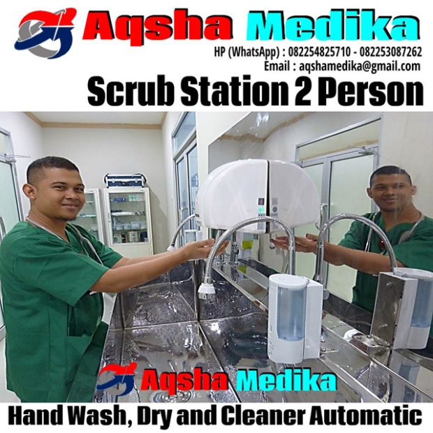 Scrub Station 2 Person - Hand Wash and Dry Cleaner Automatic