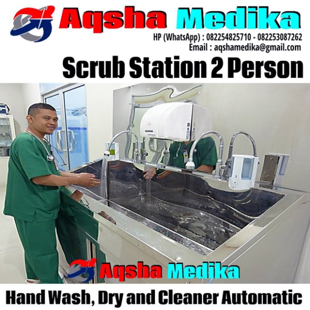 Scrub Station 2 Person - Hand Wash - Dry and Cleaner Automatic
