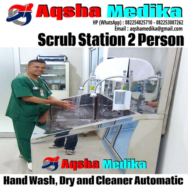 Scrub Station 2 Person - Stainless Steel