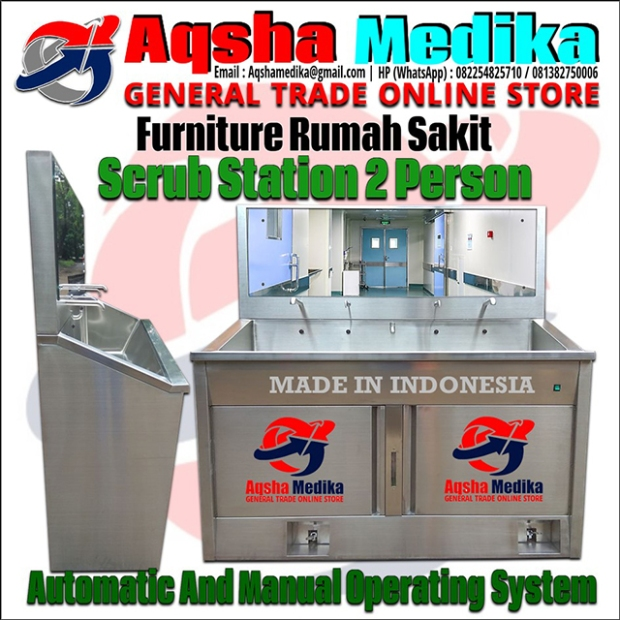 Harga Jual Scrub Station 2 Person Automatic - Scrub Station 2 Person Manual Murah