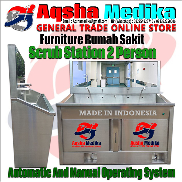 Harga Jual Scrub Station 2 Person Manual Automatic - Scrub Up 2 Person Manual Otomatis