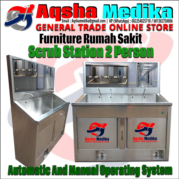 Jual Scrub Station 2 Person Automatic Manual Kamar Bedah RS