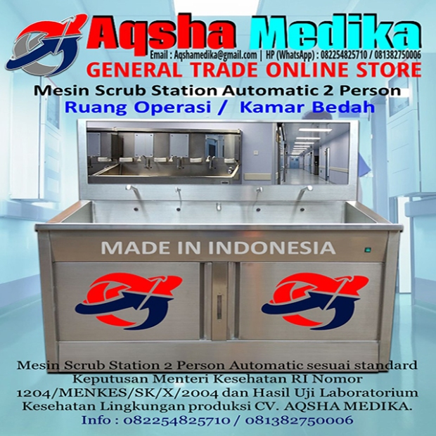 Scrub Station 2 Person Automatic Aqsha Medika Groups